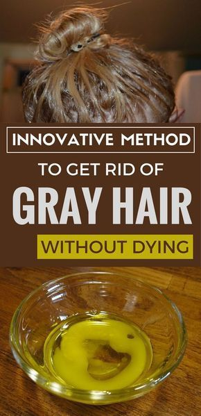 Innovative method to get rid of gray hair without dying.