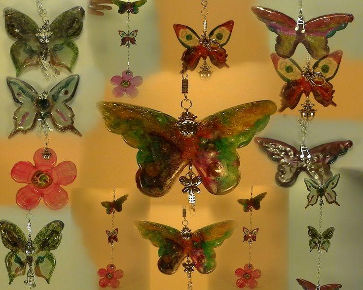 mix de mariposas colgantes,, de CDS reciclado por Reciclarte Romeromenta