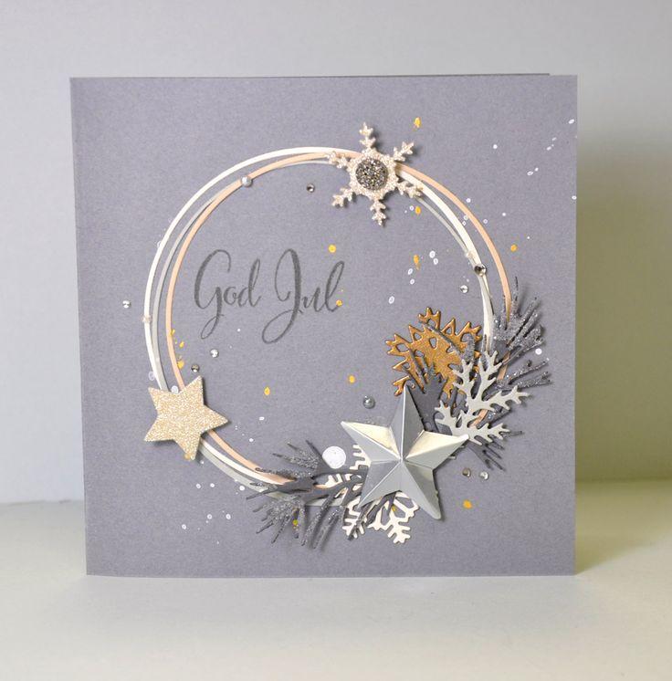 Die cut wreath card