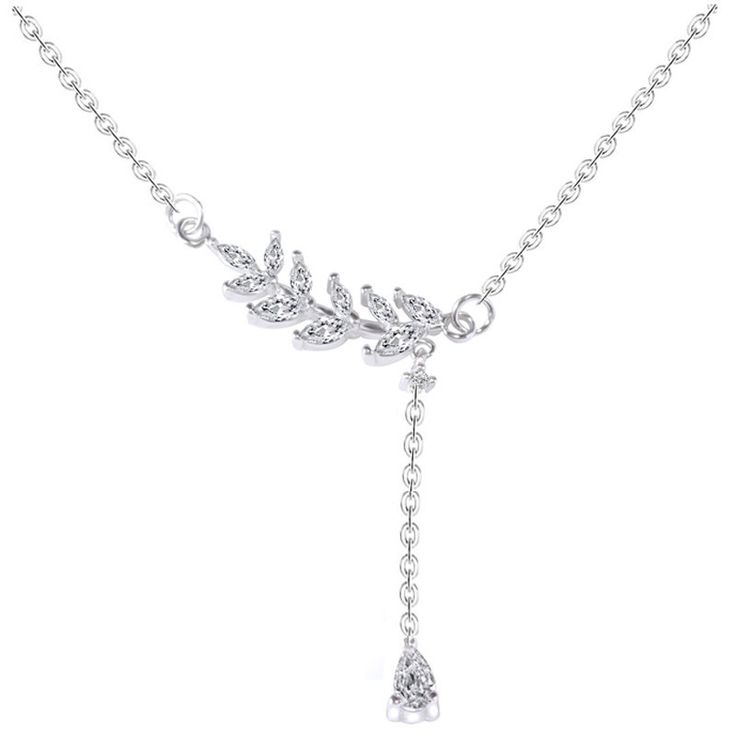 AAA 100% 925 Sterling Silver Jewelry Romantic Branches Necklaces & Pendants Silver Necklaces Christmas Gift