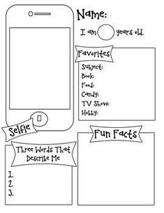 all about me selfie template all about me classroom about me rh pinterest com