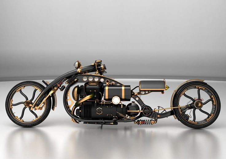 Steampunk motorcycles by Solifague Design #steampunk