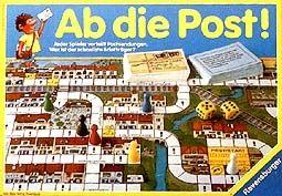 Ab die Post, Spiel ab 8 Jahre von Ravensburger. Wird nicht mehr produziert.