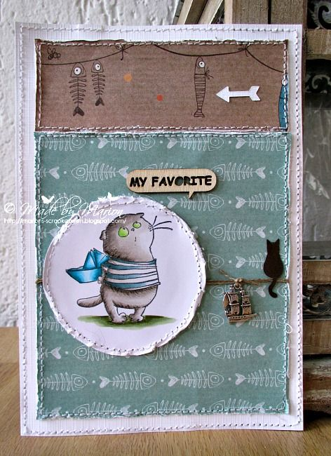 A card made with a lovely Scrapberry stamp available at Funkykits, my blogpost for the Sugar Nellie blog