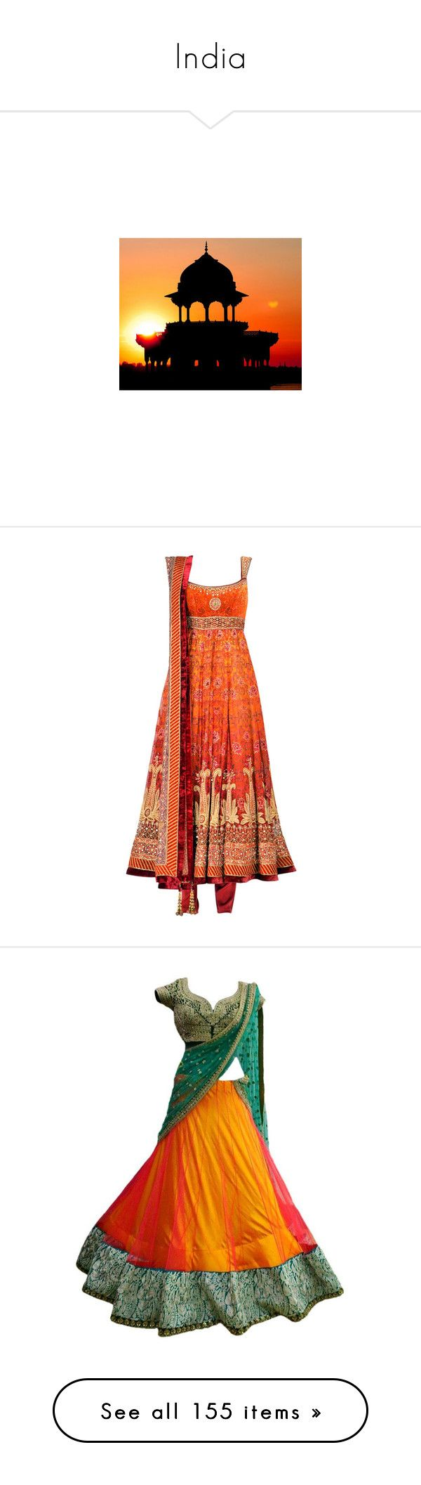"""""""India"""" by music23260721-1 ❤ liked on Polyvore featuring dresses, indian, saree, india, gown, sari, vestido, flower design dresses, vintage dresses and flower printed dress"""
