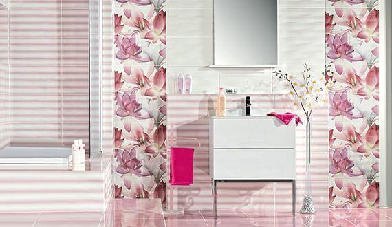 تصاميم سيراميك حمامات صغيرة 2019 مودرن Color