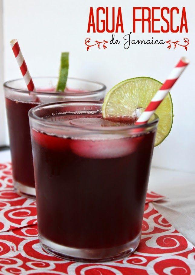 Agua fresca de Jamaica. Bebida popular en Mexico. #aguadejamaica