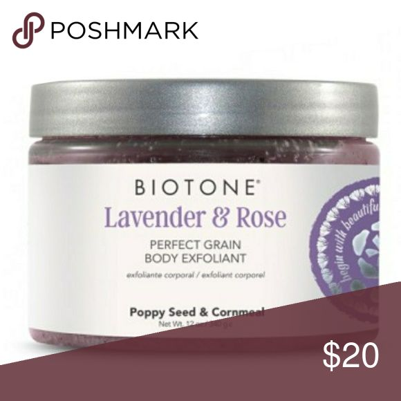 Lavender & Rose Perfect Grain Body Exfoliant Awaken your skin to give a radiant, hydrated, smooth appearance. This indulgent exfoliator contains pure grains of White Cornmeal, Poppy Seed, Apricot Seed and Walnut Shell Powder to sweep away impurities and dullness. Rich botanicals of Chamomile, Lavender, Melissa and Passion Flower work to help restore the skin?s natural radiance while preparing skin for moisturizing treatments. Nurturing aromas of Lavender & Rose enhance the senses. Gently…