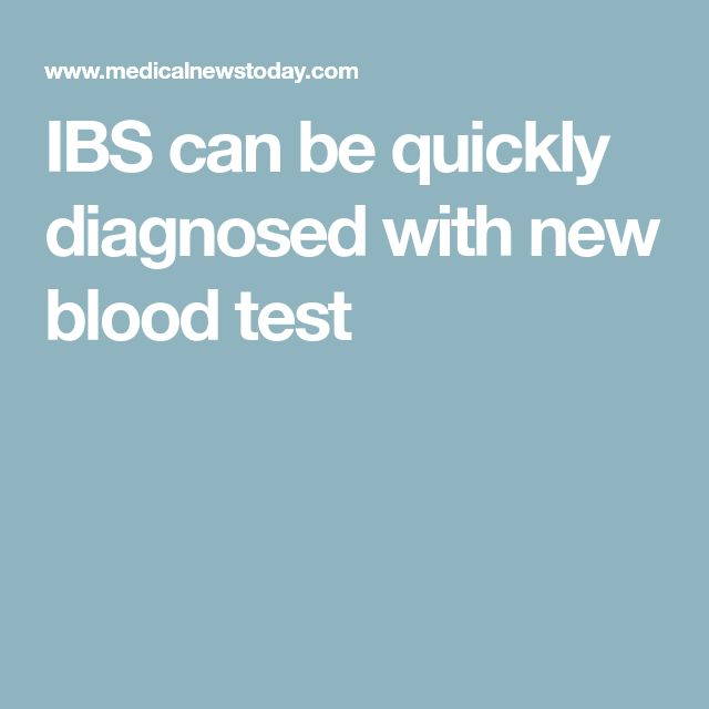 IBS can be quickly diagnosed with new blood test