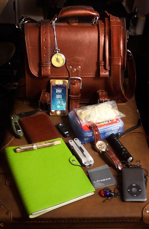 Saddleback Leather Medium Chestnut Bag (3 years old