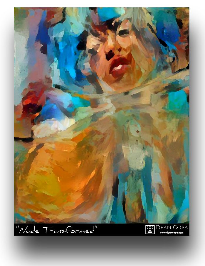 """Nude Transformed"" 2017 by Dean Copa.  A work in progress that I recently retouched.  Instagram : http://www.instagram.com/dean_copa   #DeanCopa #modernart #contemporaryart #finearts #artoftheday #artdiary #kunst #art #artcritic #artlover #artcollector #artgallery #artmuseum #gallery #contemporaryartist #emergingartist #ratedmodernart #artspotted #artdealer #collectart #contemporaryart #fineart #newmedia #newtalent #emergingartist #discoverart #collectart #greatart #newclassic"