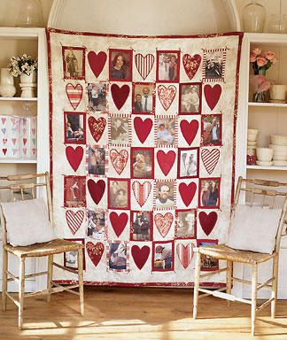 Dear Hearts Quilt - memory quilt for my daughter. Like the hearts but smaller squares and hearts. So many photos to choose from.