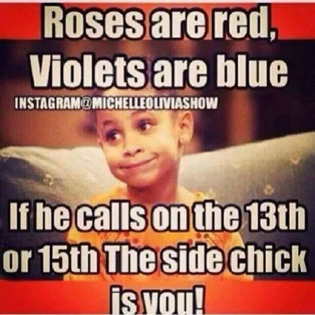Valentines Day Side Chicks Quotes