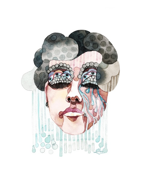 Crying Woman Art Print/Gel Jamlang