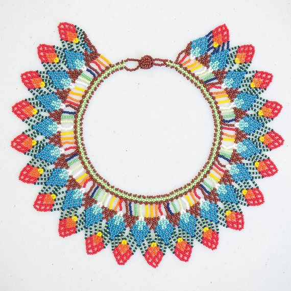 Embera collar statement necklace