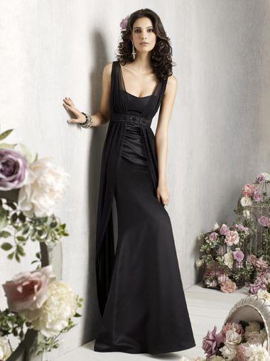 Sheath/Column Straps Sleeveless Floor-length Elastic Woven Satin Evening Dress #VJ506