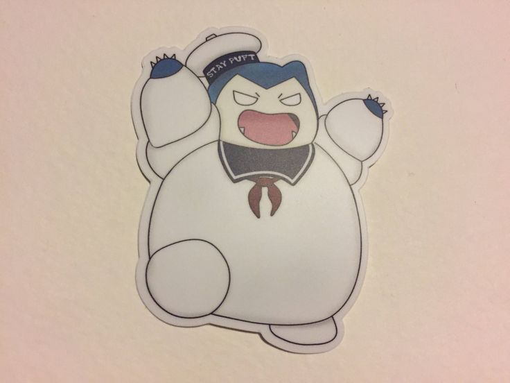 Excited to share the latest addition to my #etsy shop: Pokemon Snorlax, Stay Puff Marshmallow Man Sticker #pokemon