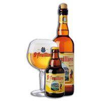 St Feuillien blonde, 7.5% 7/10 Nice beer, aftertaste quite hoppy.