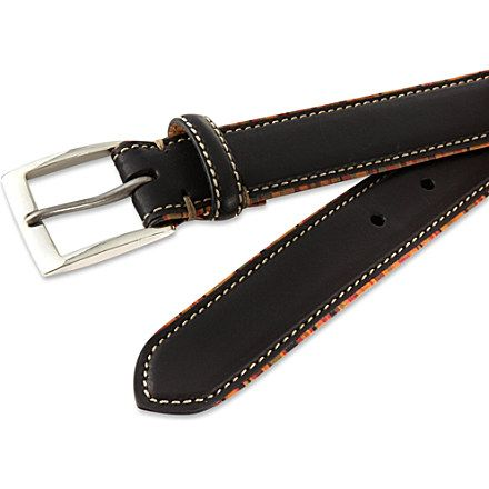 PAUL SMITH Multistripe piping belt (Black
