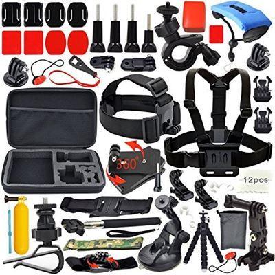 Chollo en Amazon España: Kit de 34 accesorios para cámaras deportivas por solo 25,99€. Además viene con un práctico maletín para guardarlo ordenadamente.