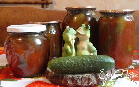 Огурцы в кетчупе | Кулинарные рецепты от «Едим дома!»