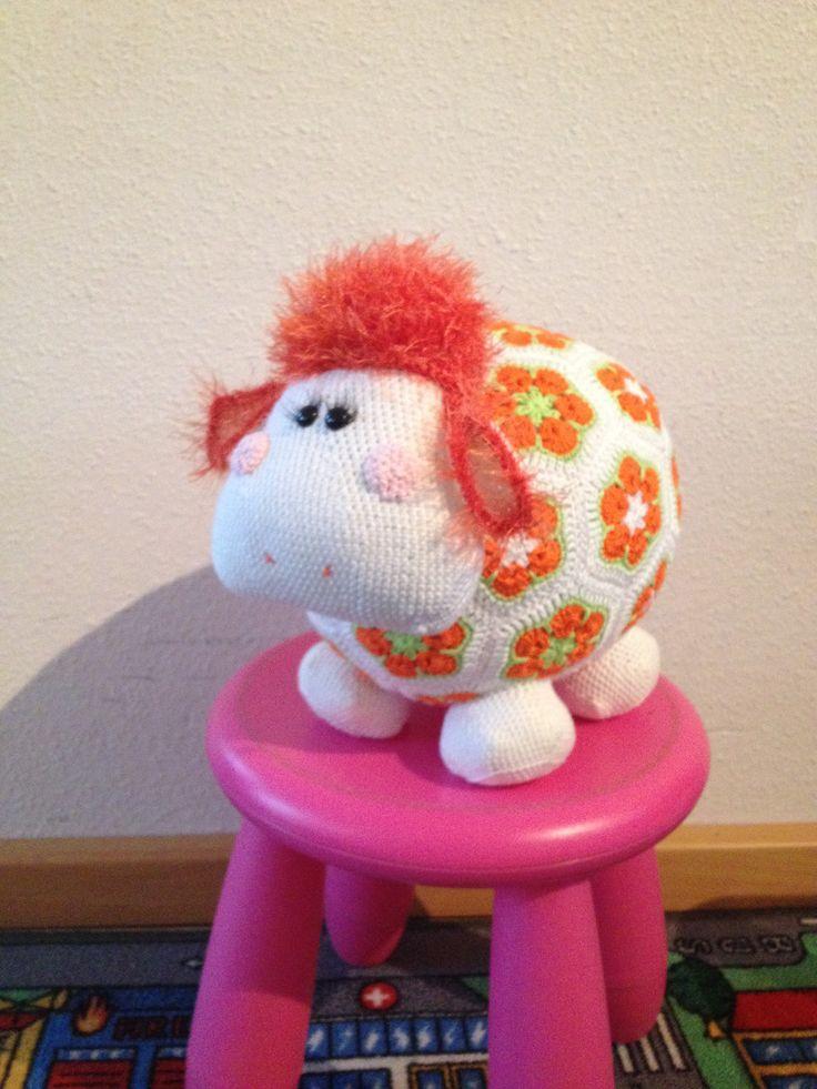 Miss wooly oranje #madebyrianne