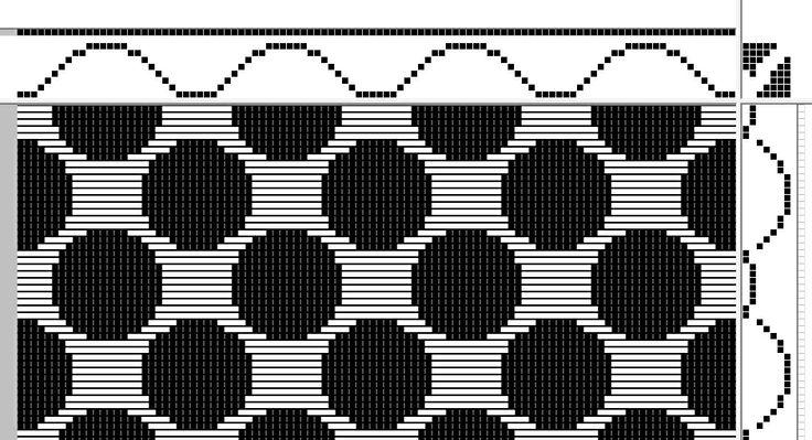 diversified plain weave   8-shaft, 7-treadle
