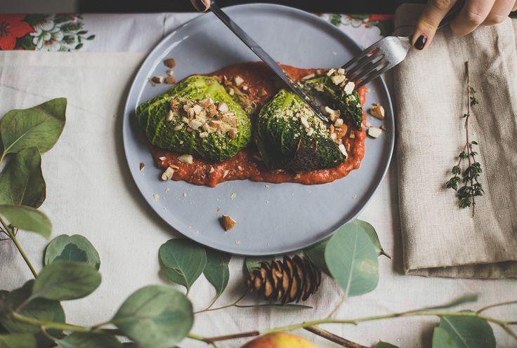 Koolpakketjes met vegan ricotta - het perfecte kerstrecept!
