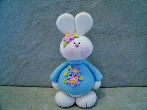 Bunny  Figurine von countrycupboardclay auf Etsy