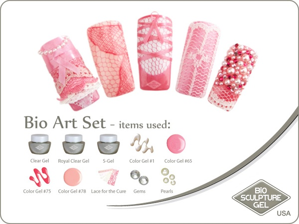 Pink lace art set