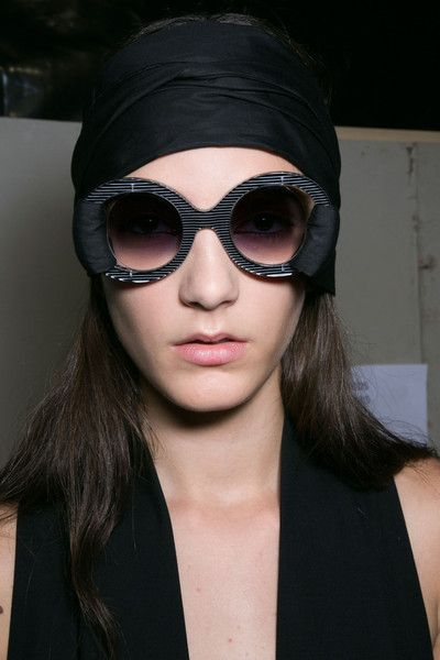 Chalayan SS15 show in Paris. All the show sunglasses were made for Chalayan by General Eyewear.