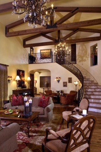 Tuscan-style living room
