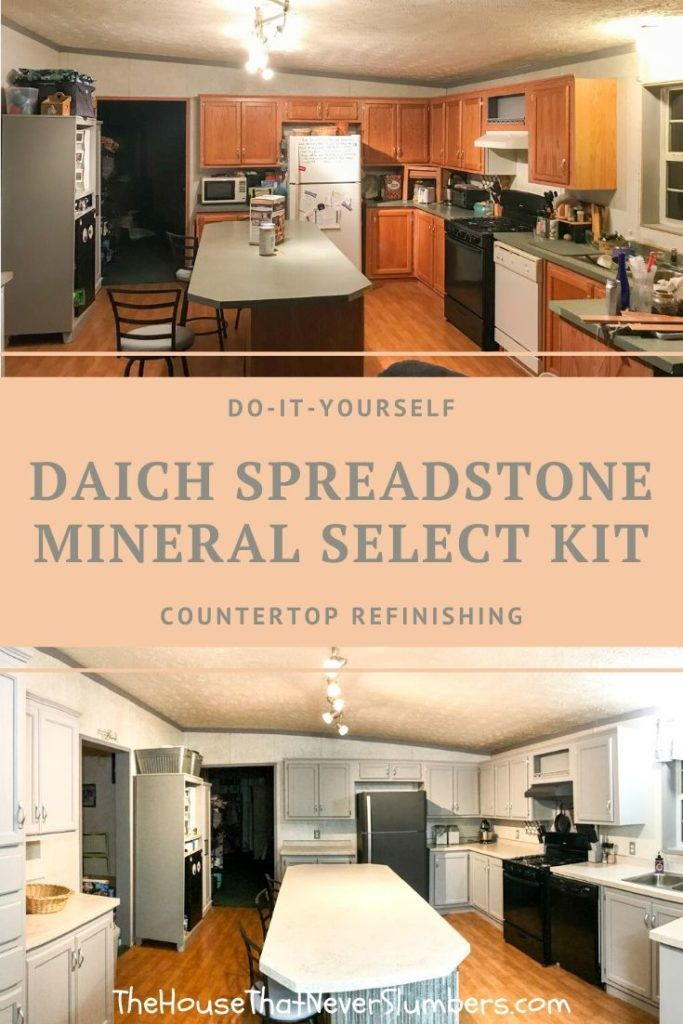 Diy Countertop Refinishing Before And After With Daich Spreadstone