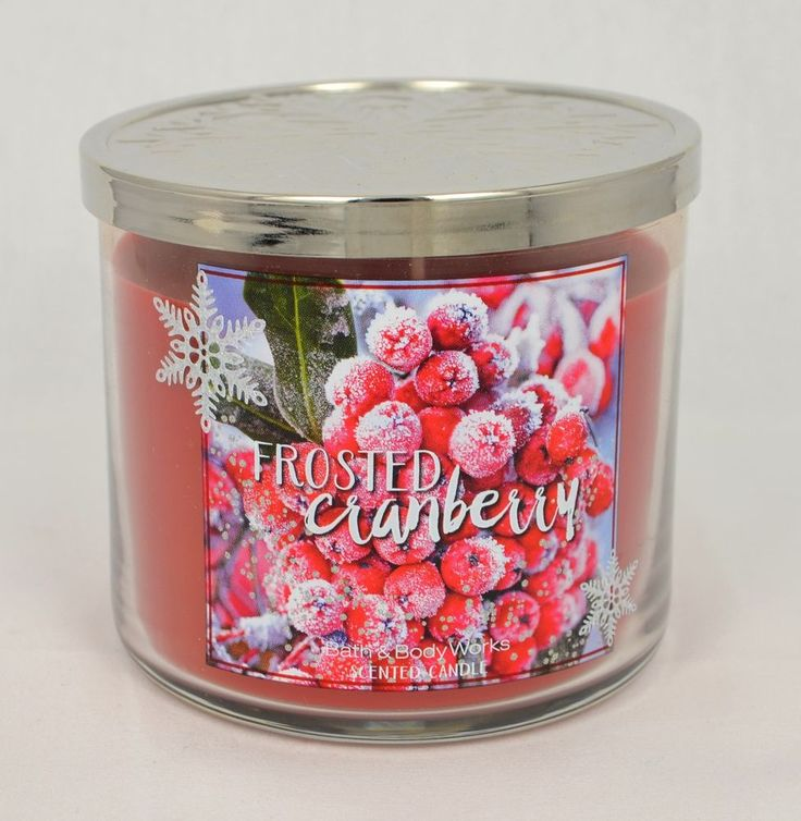 FROSTED CRANBERRY * Grande bougie parfumée Bath and Body Works * 3 wick candle