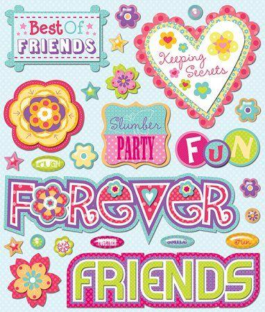 Scrapbook Stickers | Friends Stickers #9556 :: Friendship Stickers :: Scrapbooking Stickers ...