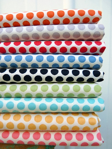 Dots in Orange, Grey, Red, Blue, Black, Green, Aqua, Yellow and Pink... So love ♥