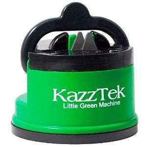 Just had to share this cool Knife Sharpener I found on Amazon! It has a suction cup on the bottom so you can easily pull your knives through with one hand! And it sharpens great! You're welcome.