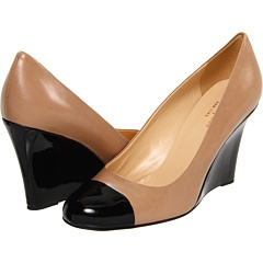 Great Business Shoe $210 Kate Spade New York Kimmy Blush Glazed Leather/Black Patent - Zappos Couture