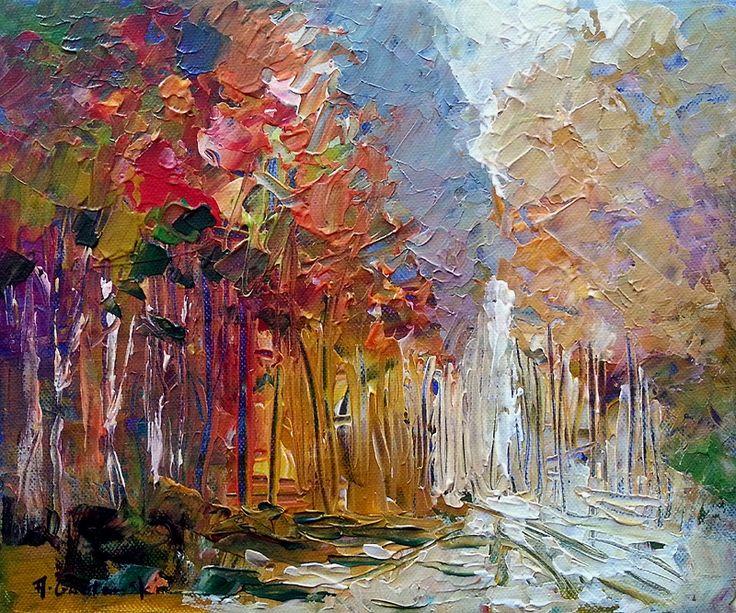Autumn Walk by Andrzej Gudanski on ArtClick.ie Abstract Art