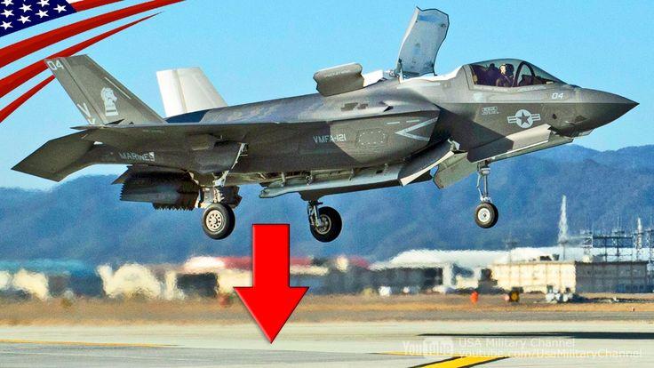 F-35Bステルス戦闘機の垂直着陸ほか、岩国基地での飛行訓練【在日米軍】