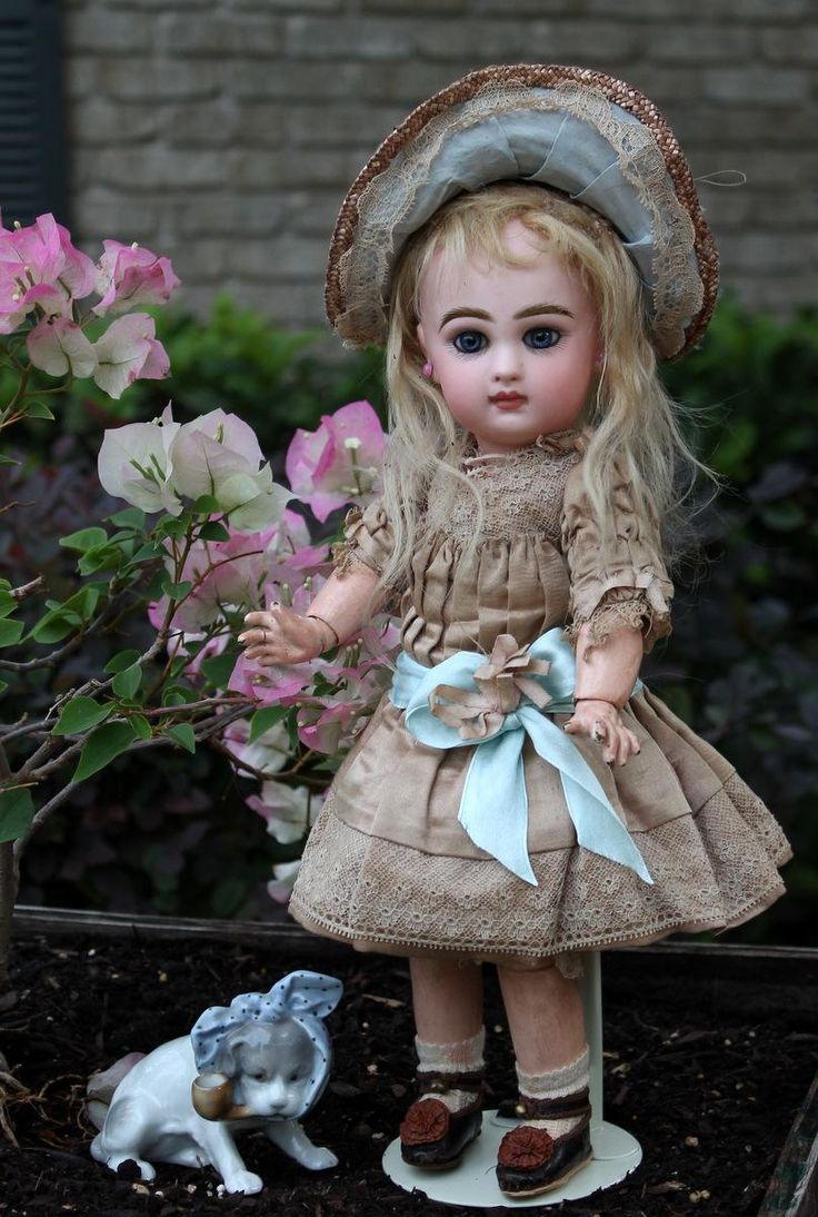Tete Jumeau size 4 All Antique ~ PRECIOUS! from signaturedolls on Ruby Lane