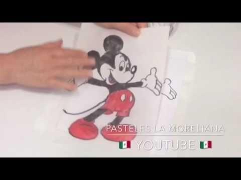 GELATINA CON TRANSFER PINTADO A MANO / Mickey mouse😉