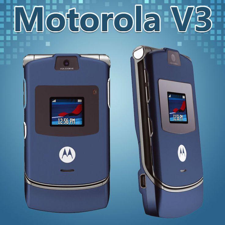 Original MOTOROLA RAZR V3 Unlocked Mobile Phone GSM Refurbished Cell Phone Free  #Motorola