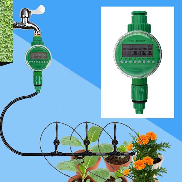 Micro Drip Watering Irrigation Auto Plant Garden Lawn Sprinkler Timer Control