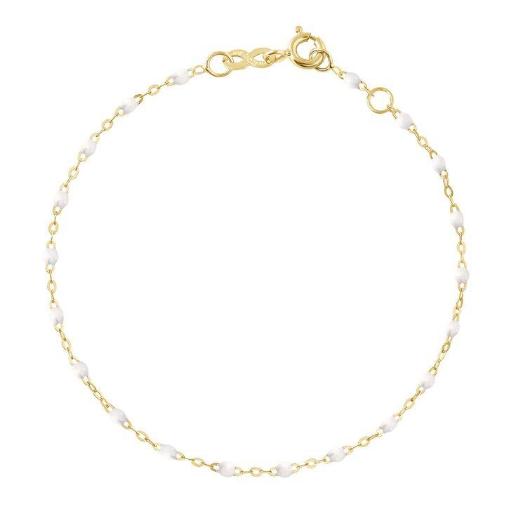 """classic gigi bracelet white (18k YG) 6.7"""""""