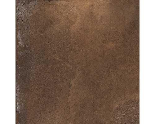 Rdzawa kwadratowa płytka