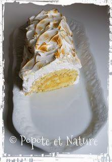 © Popote et Nature- Bûche au citron façon tarte au citron meringuée