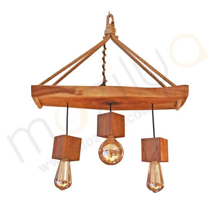 Mozilya Doğal Ahşap Aydınlatma Sarkıt  wood wooden lamp chandelier lighting unit  www.mozilya.com