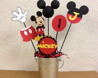 Mickey Mouse Birthday Centerpiece toppers 5 or by TheGirlNXTdoor