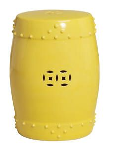 Ceramic End Tables | Yellow Garden Stool Ceramic End Table Indoor Or  Outdoor | EBay